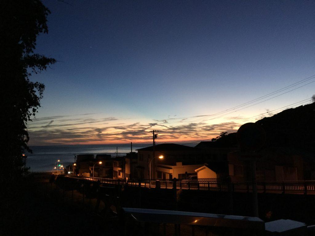 神津島の夕日