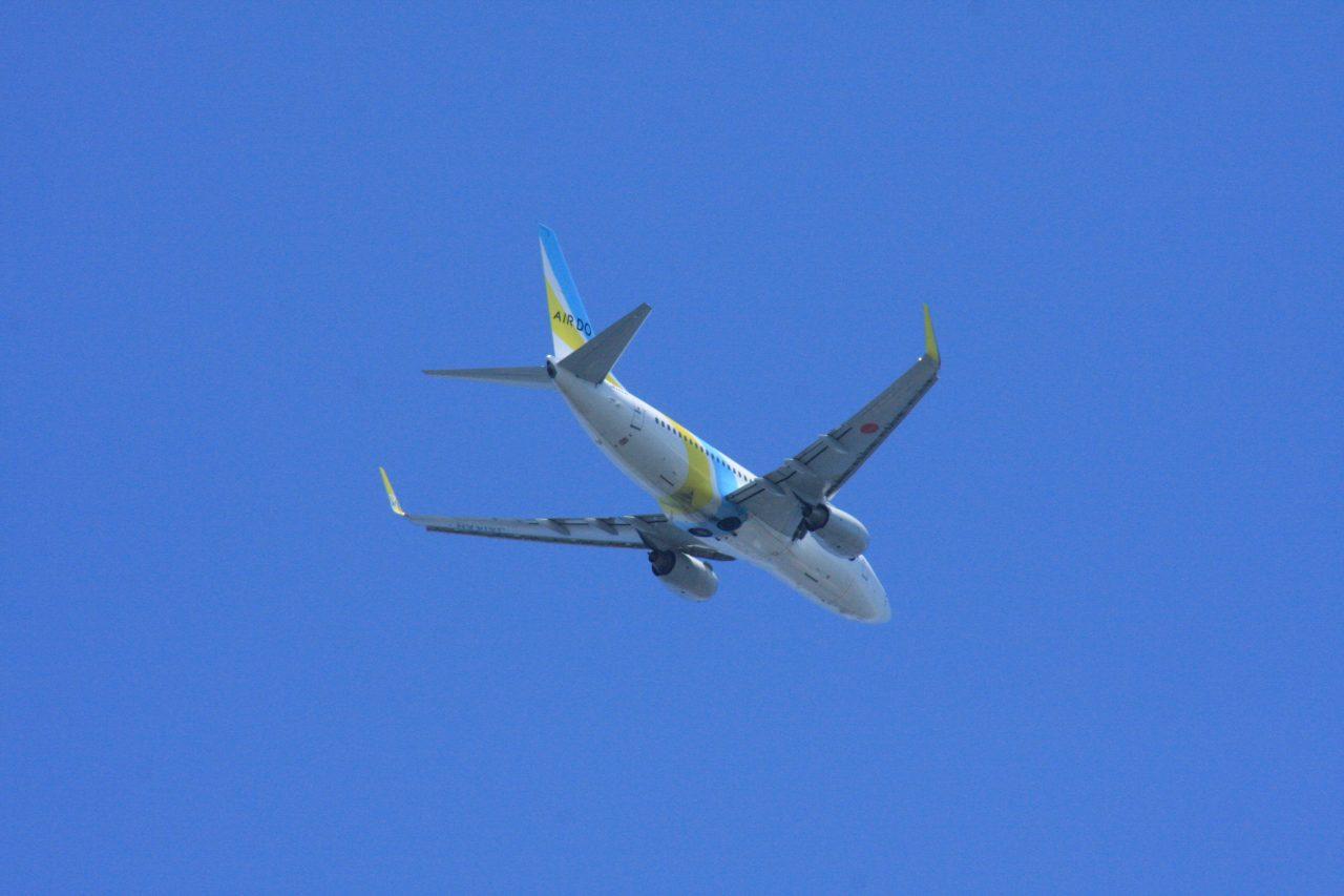 城南島海浜公園からの飛行機その2