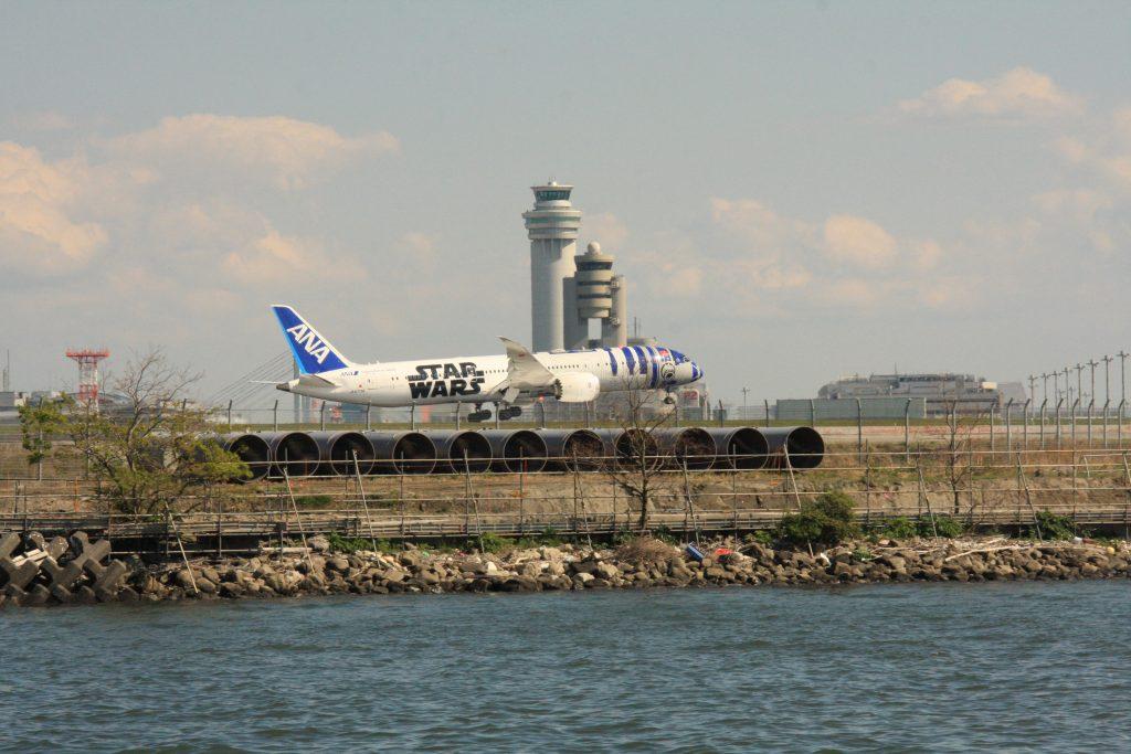 京浜島つばさ公園からの飛行機その2