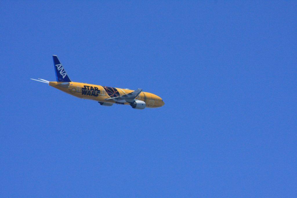 城南島海浜公園からの飛行機その5