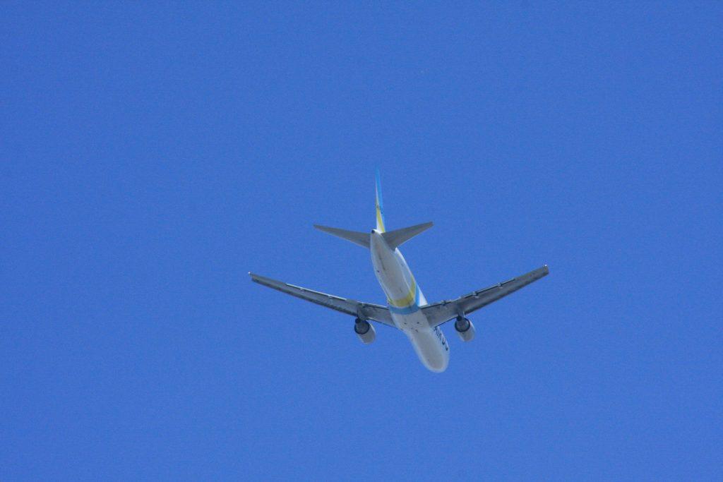 城南島海浜公園からの飛行機その6