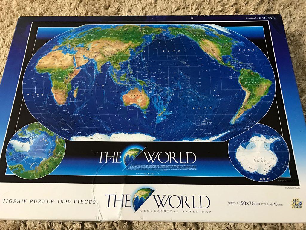 1000ピースの世界地図パズル