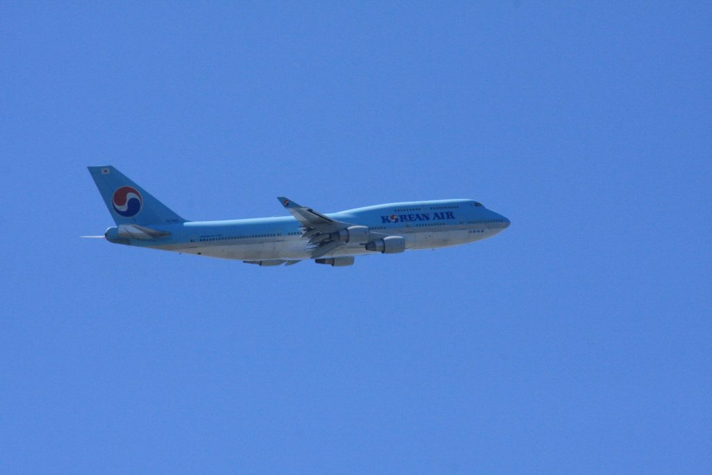 城南島海浜公園からの飛行機その7