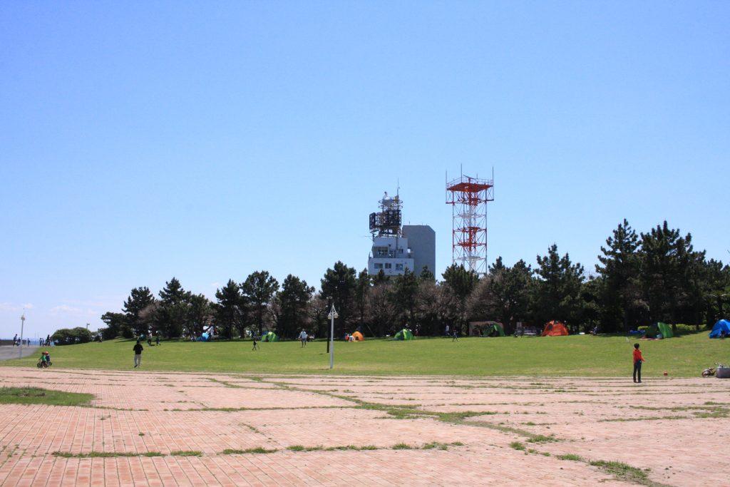 城南島海浜公園のキャンプ場所