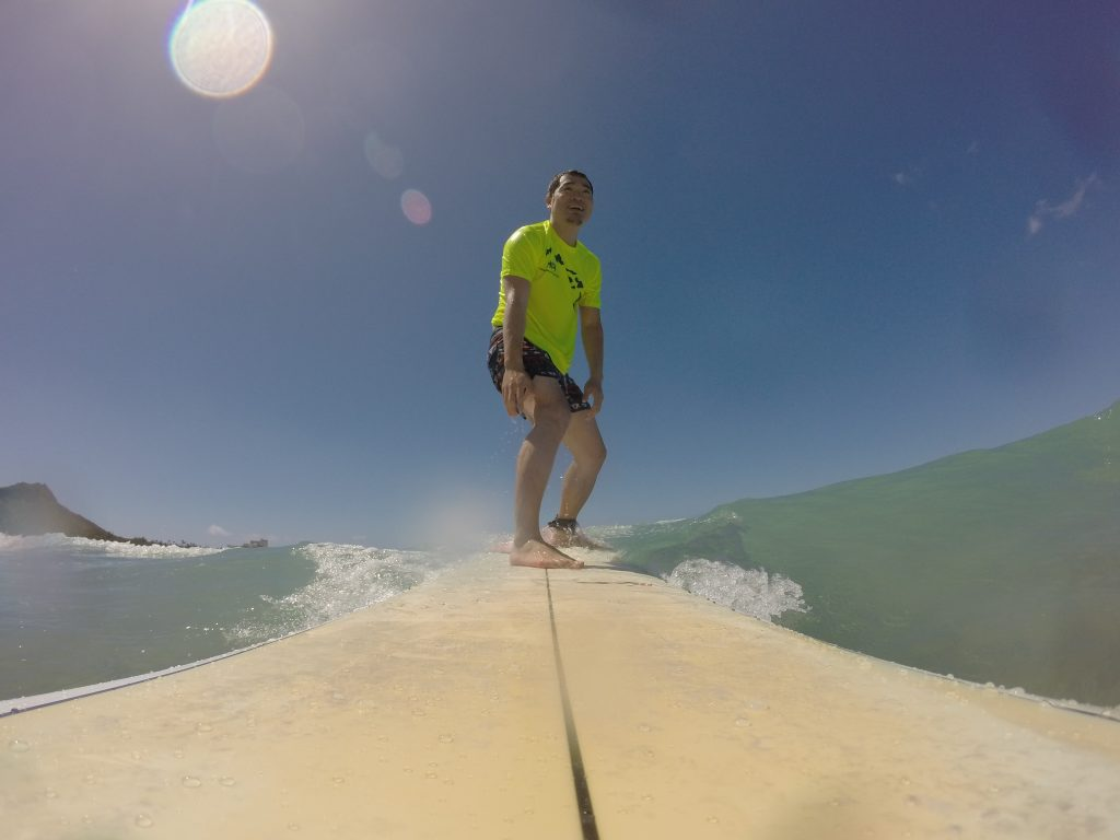 ハワイで波に乗る僕その2