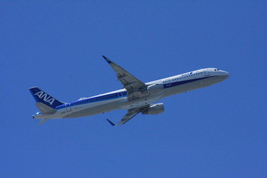 城南島海浜公園からの飛行機その3