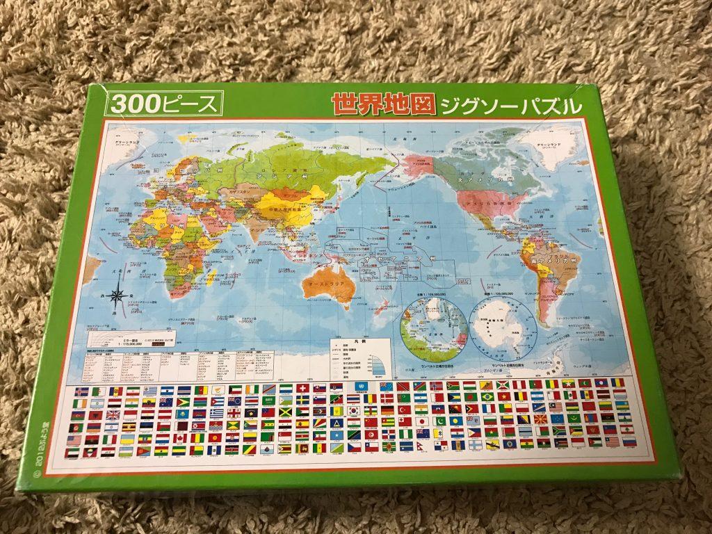 300ピースの世界地図パズル