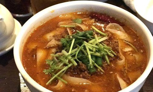 西安刀削麺酒楼の辛い麻辣刀削麺