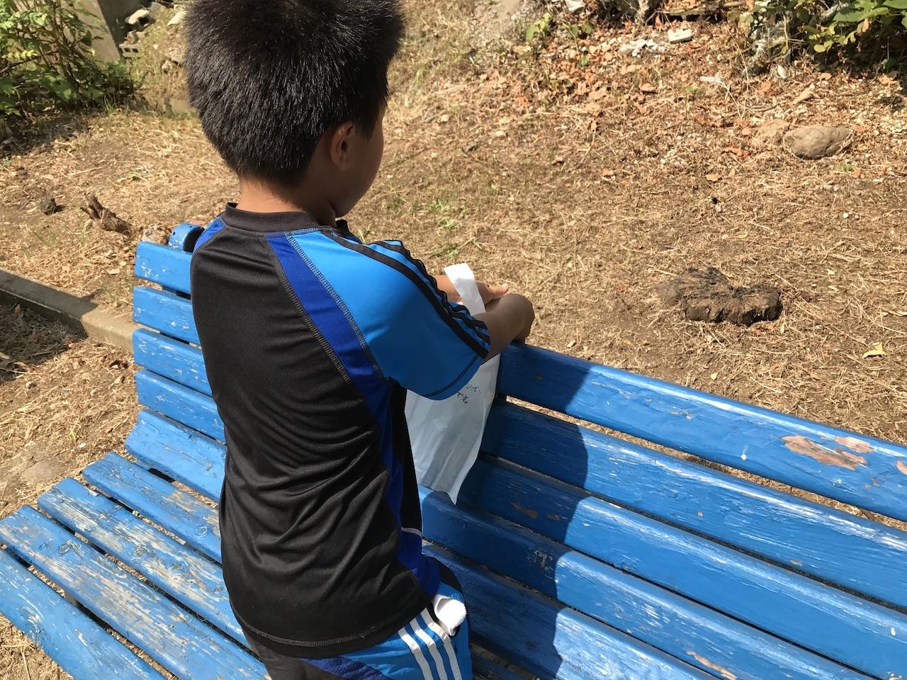 息子達と自宅横の公園をきれいにする大作戦。自分達で清掃する方法から、ゴミを捨てる人達を減らす方法を子供達が考える。