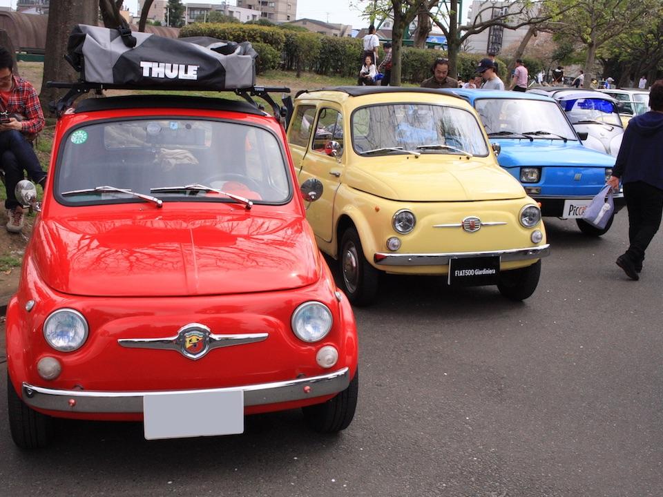 川崎大師のクラシックカーフェスティバルで2台のチンクを発見!!