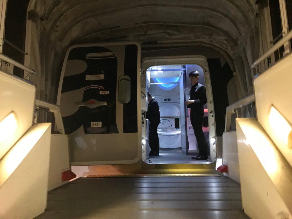 787の搭乗口
