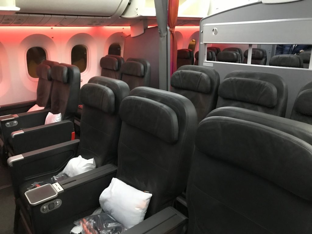 787は3-2-3の座席配列