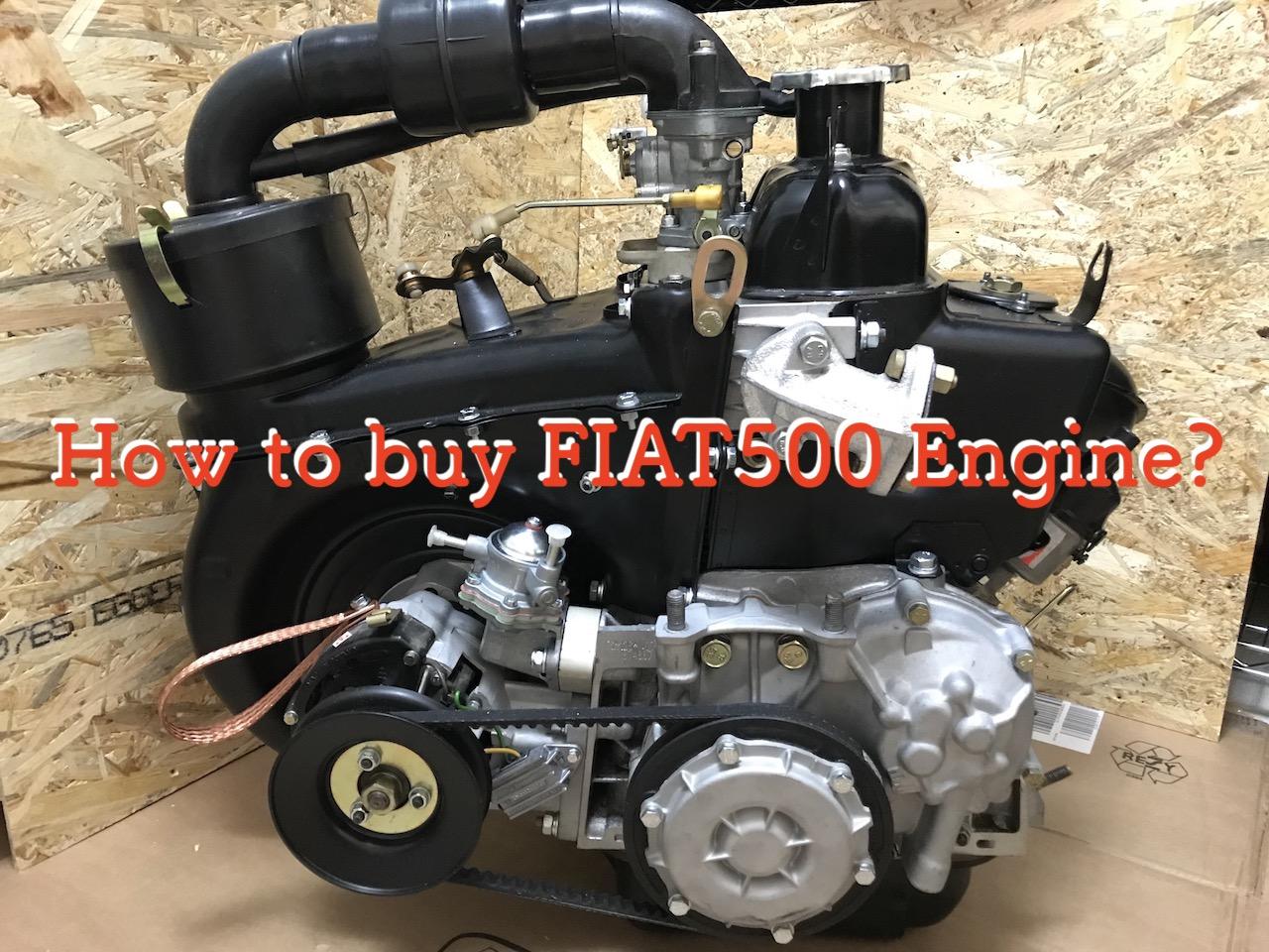 輸入した『旧チンクエチェント500』の新品エンジンが日本にやってきた!!