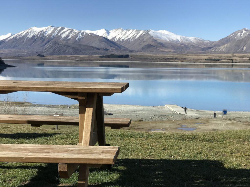 景色が最高で一番好きなベンチ