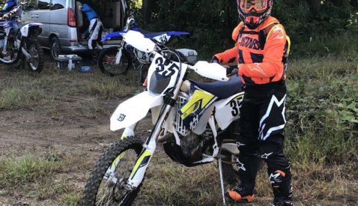 「エンデューロバイク初心者」がレースデビュー戦で昇天してきた。