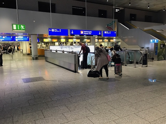 フランクフルト空港の手荷物受取の入り口