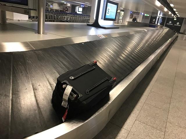 フランクフルト空港の手荷物受取のターンテーブル