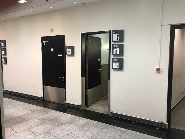フランクフルト空港のシャワー