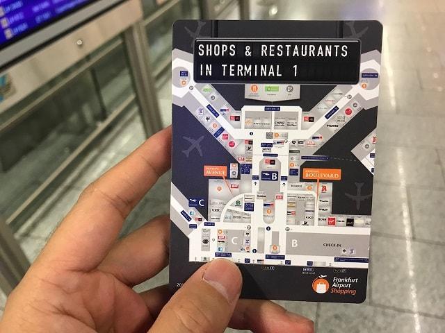 フランクフルト空港のポケットマップ
