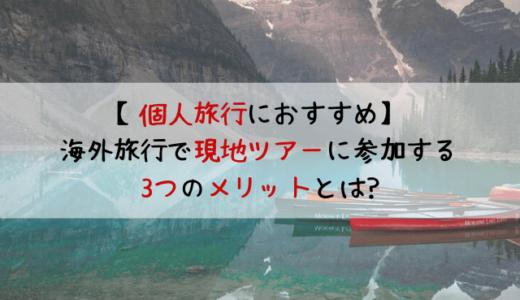 【個人旅行におすすめ】海外旅行で現地ツアーに参加する3つのメリットとは?
